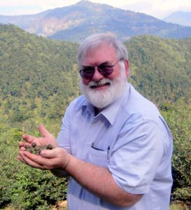 Dan in Darjeeling, India November 2011 Holding tea seeds