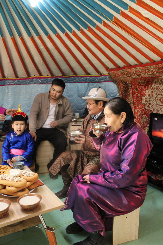Making Nomad's Tea in Mongolia