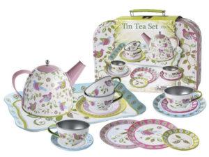Playwell Bird Tin Tea Set