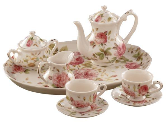 Porcelain Miniature Tea Set