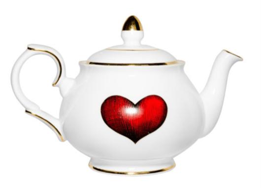 Rory Dobner |Red Love Heart Teapot