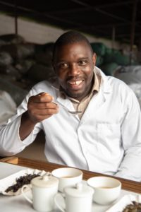 Alfred Mwase at the tasting table