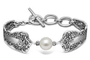 Lady Helen Sterling Silver Crystal Pearl Bracelet