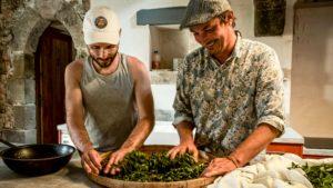 Rolling Tea Master Emile Auté And Tea Expert Benjamin Sieuw
